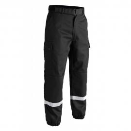 Pantalon intervention bandes rétro-réfléchissantes noir